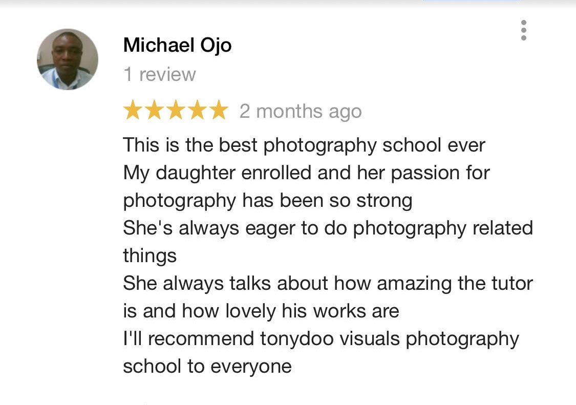 testimonials tonydoo visuals photography school in lagos nigeria-best photography training school in nigeria 23