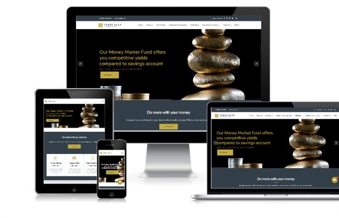 firstally responsive website