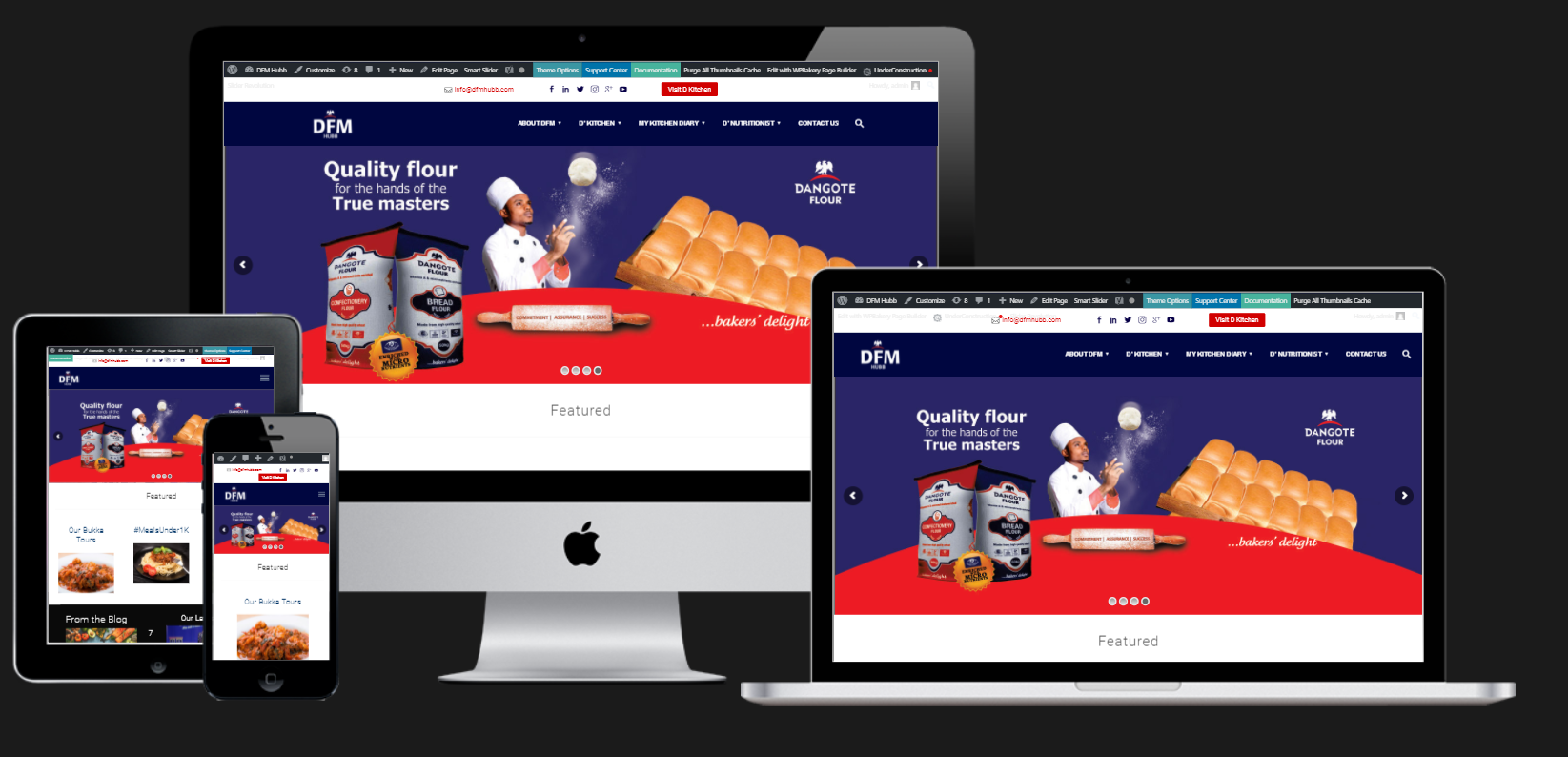 Dangote Flour Mills Website